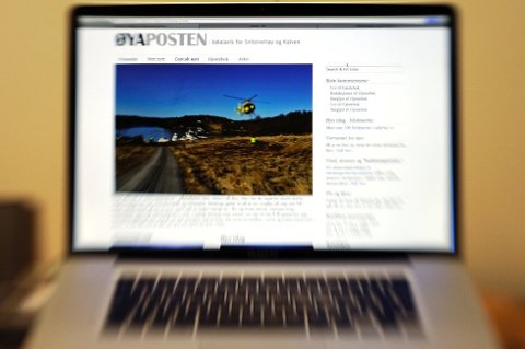 ØYAPOSTEN: Ei av dei vakrast utforma av dei lokale nettstadane i Kvinnherad. (Illustrasjonsfoto: Jonn Karl Sætre).