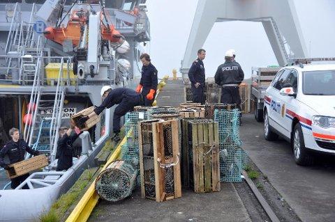 I oktober 2013 kverrsette Kystavakta heile 88 teiner som blei overlevert til politiet. (Arkivfoto).