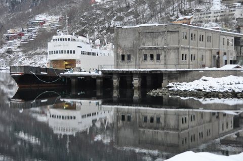 Her er gamle «Bjørnefjord» fotografert til kai i Odda februar 2011. (Arkivfoto).