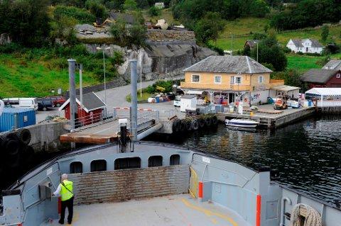 Ferjekaien på Borgundøy. (Arkivfoto).