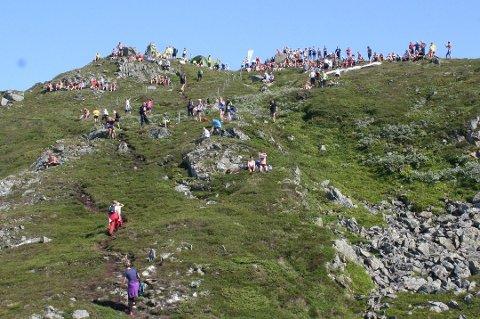 Arkivfoto av fjelltrim til Malmangernuten.