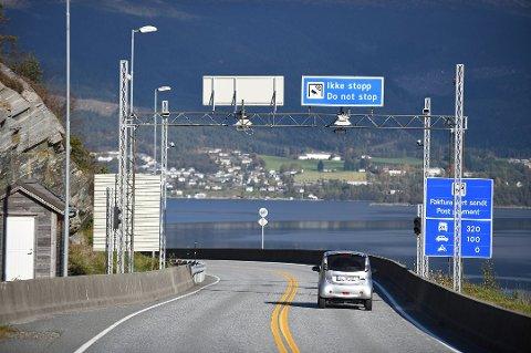 Autopass-stasjonen på Tofte. (Arkivfoto).