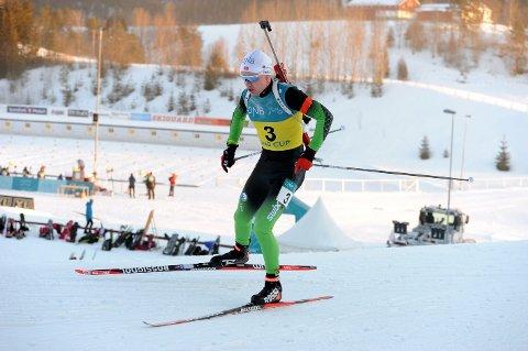 PRESTERTE: Martin Femsteinevik gikk et toppløp og var med og kjempa om sigeren i fredagens norgescuprenn på Simostranda.