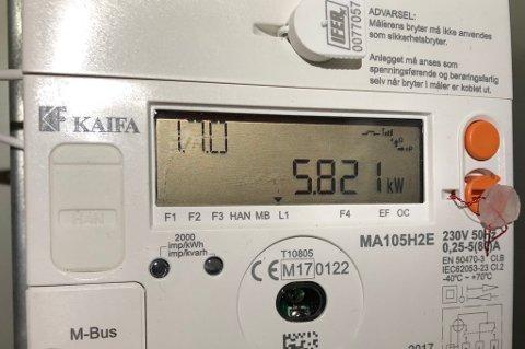 WATTMETER: Dei nye straummålarane kan visa litt av kvart, blant anna kor mange watt du brukar til ei kvar tid.