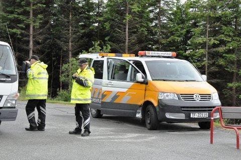 Vegvesenet hadde kontroll på Husnes onsdag.