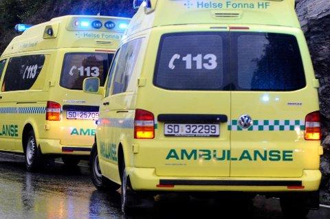 Ein MC-førar kolliderte med ein sau på Matersvegen sør for ferjekaien i Matre tysdag føremiddag. (Illustrasjonsfoto).