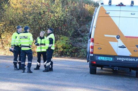 13 gebyr blei skrive ut då Statens vegvesen hadde kontroll på Husnes torsdag. Her frå ein tidlegare storkontroll. (Arkivfoto).