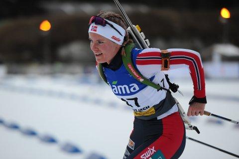 Ragnhild Femsteinevik gler seg til å konkurrera i EM der ho vil få sjansen til å bryna seg på fleire av verdas beste skiskyttarar.