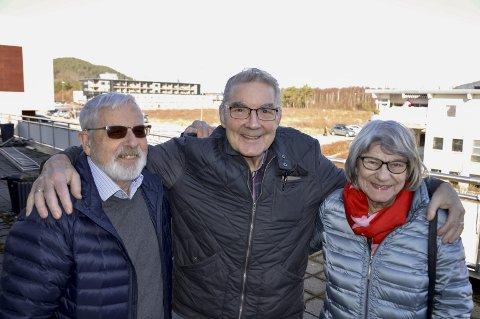 Arbeidsutval: Otto Blokhus, Roald Teigen og Aud Sigrun Fausk er med i arbeidsutvalet for seniorsenteret. Foto: Kristian Hus.