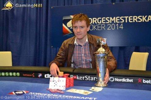 For fem år sidan vann Terje Bru Markhus 18.500 Euro i poker-NM. (Arkivfoto).