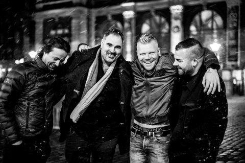 Denne gjengen spelar Kim Larsen sin musikk på Halsnøy kulturhus laurdag 23. mai. (Pressefoto: Ole Kristian OIsen).