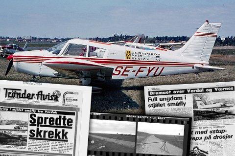 Her er flyet fotografert i 1972 i Sverige, før det ble solgt til Norge og endret registreringsnummer til LN-DAQ.  Beruset 17-åring stjal Verdal flyklubb sitt fly 11. mai 1980.  Piper PA-28-140 Cherokee E. C/n 28-7225184 sold to Norway reg LN-DAQ