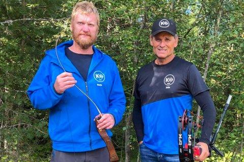 NM-MEDALJAR: F.v. Terje Bakke og Atle Helland kapra individuell sølv- og bronsemedalje i 3D-NM i Tveitedalen søndag. (Arkivfoto).