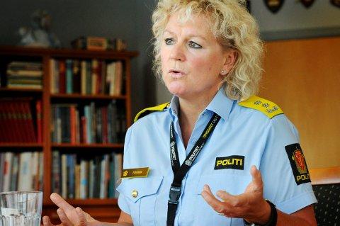 MØTER LOKALPOLITIKERNE: Christine Fossen, politimester i Sør-Øst Politidistrikt, kommer til Lampeland tirsdag formiddag.