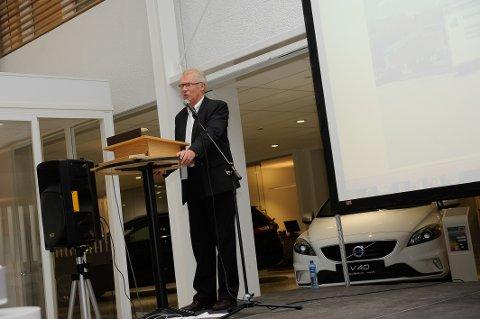 STOLT : Petter Johan Spiten kunne presentere det nye anlegget.