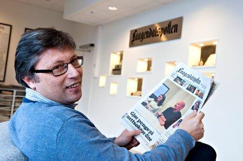 FORNØYD:- Dette er en milepæl, sier Jørn Steinmoen. FOTO: STÅLE WESETH