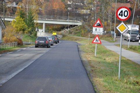 Tidligere fylkesvei 72 som var nedfarten fra E134 til Darbu, er nå utbedret for fire millioner kroner.