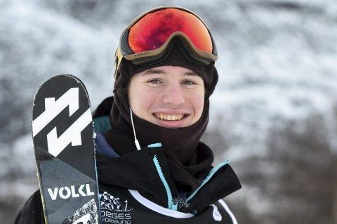 FEMTEMANN: Trym Sunde Andreassen, Kongsberg Freestyleklubb,  ble nummer fem i finalen i junior-VM i slopestyle i italienske Chiesa in Valmalenco torsdag.foto: ole john Hostvedt