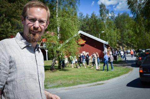 Mye folk:Avdelingsleder for Labromuseene, var svært fornøyd med søndagens Labrodag. Aldri før har så mange besøkende vært på Labrodagen.