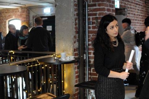 AKTUELT TEMA: Ap-nestleder Hadia Tajik snakket for fullt hus på EnergiMølla torsdag.