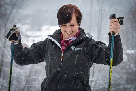 Wivi-Ann Bamrud, leder i Kongsberg Næringsforum, har hatt det mye moro med Vinterfestivalen. Men nå er det slutt slik vi kjenner den. Vinterferieuka vil først og fremst bestå av Marken.