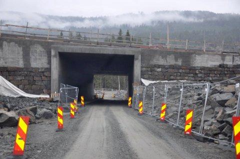ÅPEN IGJEN: Undergangen under E134 fra Kisgruveveien til Gruveveien er nå åpen for trafikk.