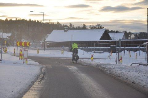 STENGT: Deler av E134-anlegget passer ikke for syklister.