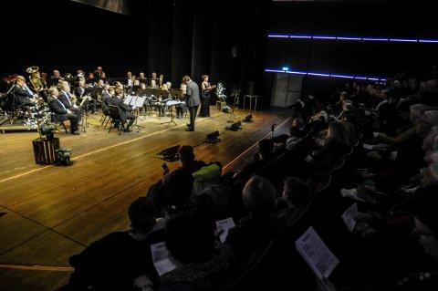 VEL GJENNOMFØRT: Kongsberg Byorkester kom hjem med en 12. plass fra NM i Trondheim i helgen. Bildet er fra en konsert i Kongsberg Musikkteater