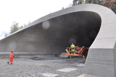 FERIDG: Tunnelportalen på Moane øst er nå ferdig