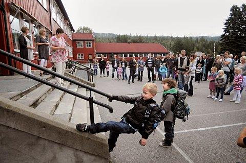 Snart skolestart: Mandag er det skolestart i hele distriktet. (Bildet er fra Lampeland skole)