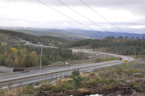 Lassedalen i Saggrenda høsten 2019 - med ny E134 som åpner i 2020.