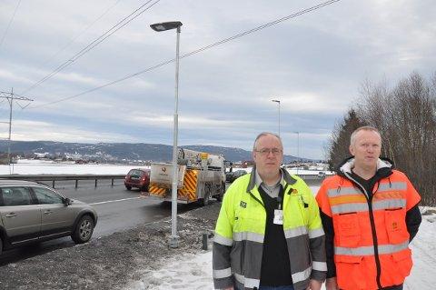 Ottar Bjørnstad (t.v.) og Ståle Fredheim lover lys. Dette bildet ble tatt i 2015.