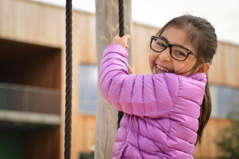 Spesiell dag: Mandag startet mange førsteklassinger på skolen. En av dem er Victoria, som har hatt en tøff start på livet.