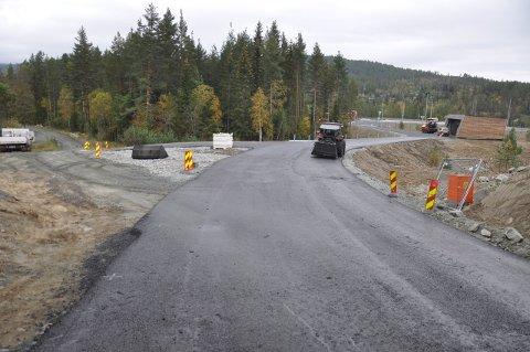 Nye Kisgruveveien ut til E134-rundkjøringa