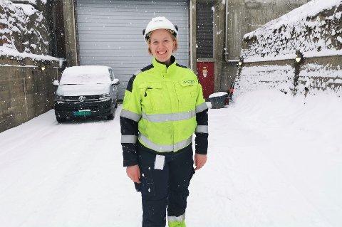 FØRSTE KVINNE PÅ 120 ÅR:  Da Line Drange Ruud ble ansatt som ny kraftverksjef i Glitre Energi gjorde hun noe litt utenom det vanlige. Foto: Katrine Alexandra Leirmo Heiberg.