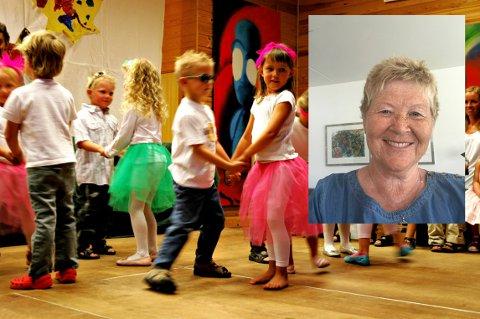SAVN: Noe av det Anne-Mette Larsson kommer til å savne er kontakten med barna. Bildet er fra sommerfest i Lampeland barnehage i 2008.