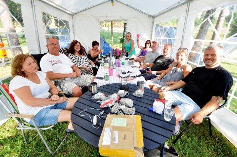 BLUESCAMP: Det pleier å være mye liv og røre på byens mange festivalcamper under bluesen. I år må festlighetene på camp vente.