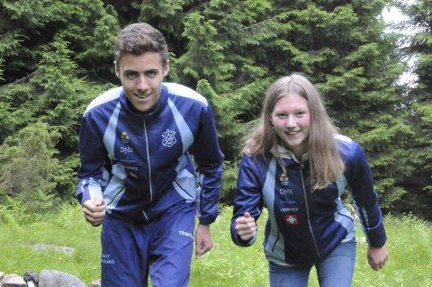 EM-KLARE LIUNGER: Synne Strand fra Tranby og Sander Arntzen kom begge med på det norske laget til Junior-EM i orientering med knapp margin. Nå håper de begge å prestere så godt på de individuelle løpene at de får løpe på det norske stafettlaget i mesterskapet i Slovakia.