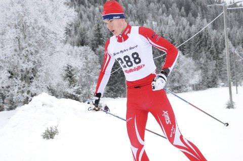 Sterk debut: Forrige sesong gikk Thorbjørn Bogstrand Løitegård tre kilometer i konkurranse. Lierrennet var hans første konkurranse på fem kilometer. – Jeg var skikkelig nervøs. Jeg har hørt at det er slitsomt, og det stemte. Jeg er godt fornøyd med løpet, jeg klarte å åpne rolig, forteller 14-åringen som ble nummer tre i 15-årsklassen.