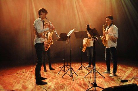 Quattro Saxofon var en av de sceneinnslagene som kom videre til fylkesmønstringen.
