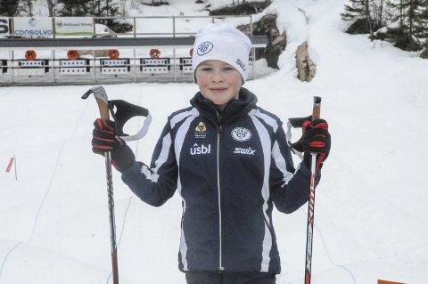 Ga mersmak: Syver Rustadbakken prøvde skyting for første gang på lørdag, og stortrivdes under klubbmesterskapet i skiskyting på Eggevollen søndag.