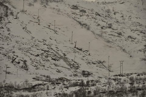 Kanonvær: Det kan bli vær for snøproduksjon, om det blir blått på graderstokken. Arkivfoto: Kristian Rothli