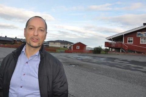 Senter: Leder for Flakstad Utvikling, Rolf G. Zimmermann, ønsker plan for Ramberg. foto: magnar johansen