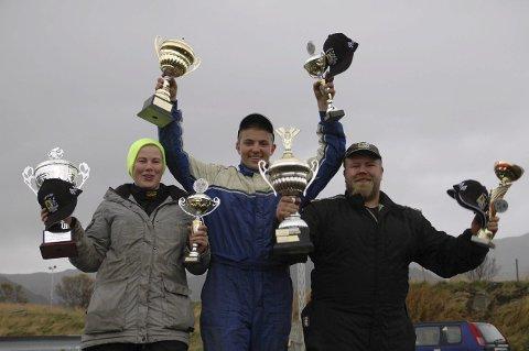 VINNERNE: Josefine Andersen vant dameklassen, Erlend Hansen gikk til topps i juniorklassen og Steinar Salomonsen vant seniorklassen.