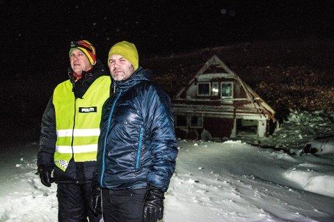 - Det var som en tsunami - alt var feid bort, sier førstebetjent Trond Olsen. (Foto: Stian Joachim Olsen)