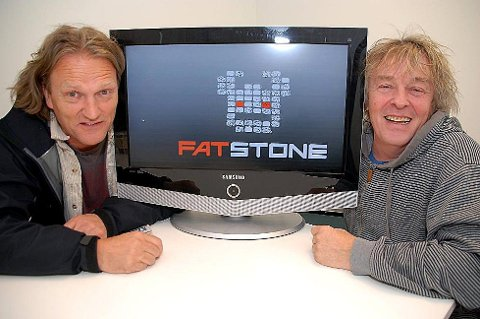 Even Carlsen og Kjell Vagle i Fatstone TV.