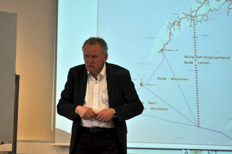 Fergeleie: Regionveisjef Torbjørn Naimk ser ingen gevinst i å flytte ferge til Leknes.