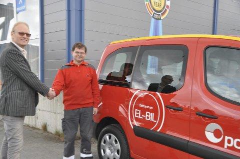 Bra år: Arne Leo Olavsen leverte elbiler til Posten i fjor som ble et godt år