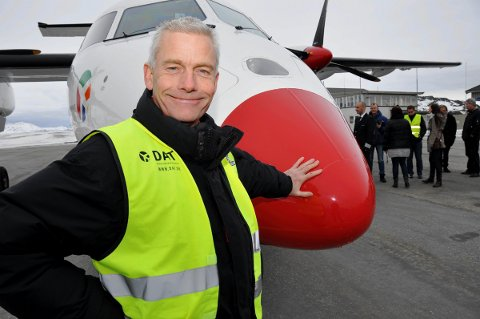 Til Lofoten: DAT-sjef Jesper Rungholm kommer tilbake til Lofoten. Her fra da han gjestet regionen etter å ha fått anbudet på flyrutene til og fra Lofoten sist, de ble senere trukket.Foto:ARkiv