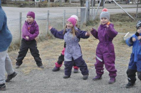 ARTIG: Dansegleden og innlevelsen var stor hos elevene ved Fygle skole. Alle foto: Kai Nikolaisen